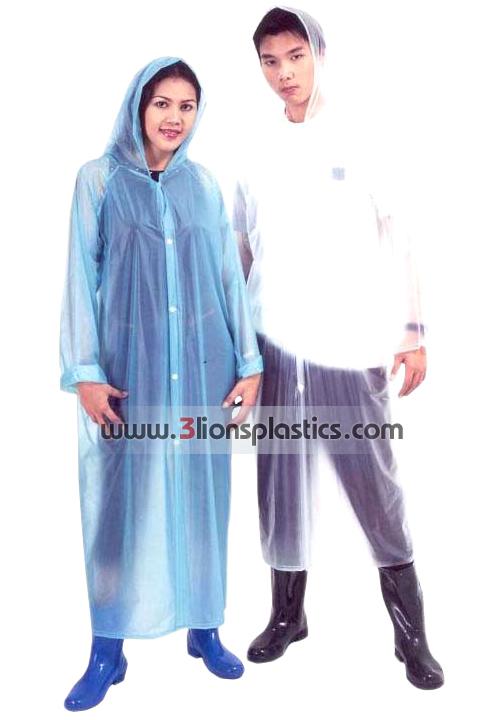 30-RG026 เสื้อกันฝนผู้ใหญ่ แบบผ่าหน้า - โรงงานผลิตเสื้อกันฝน