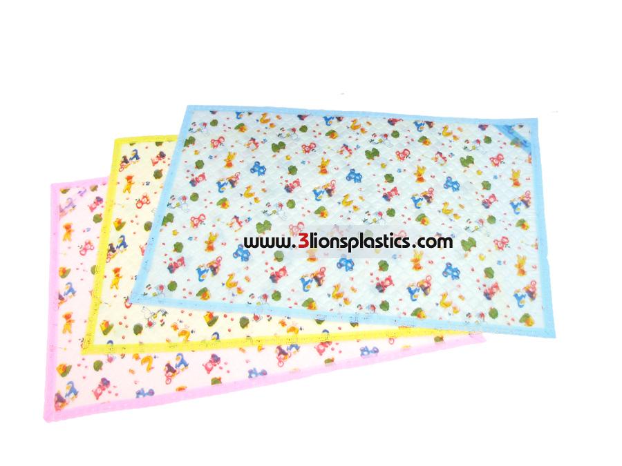 ผ้ายางติดริมลูกไม้ ใหญ่ โรงงานผลิตผ้าพลาสติกปูรองที่นอนเด็ก