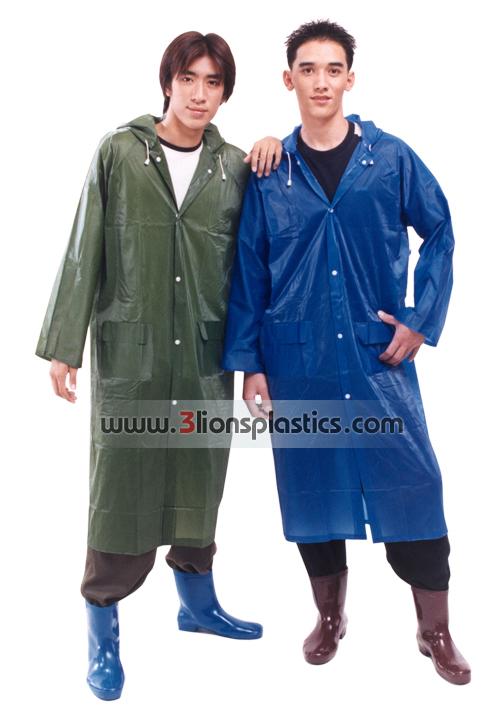 30-RG001 เสื้อกันฝนผู้ใหญ่ แบบผ่าหน้า - โรงงานผลิตเสื้อกันฝน