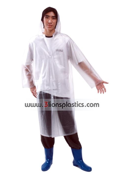 30-RG0021/4 เสื้อกันฝนผู้ใหญ่ ใสมัว - โรงงานผลิตเสื้อกันฝน