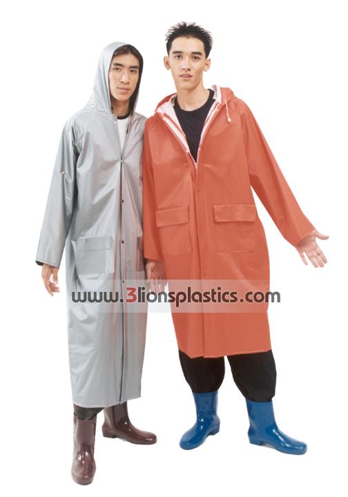 30-RG015 เสื้อกันฝนผู้ใหญ่ แบบผ่าหน้า - โรงงานผลิตเสื้อกันฝน