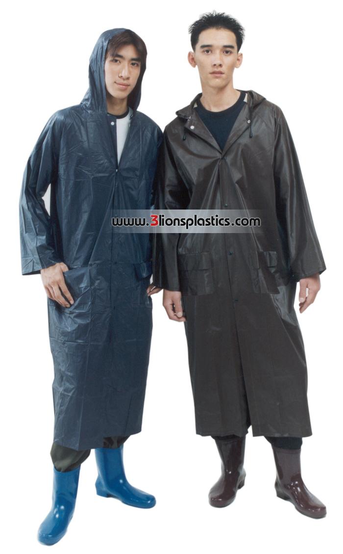 30-RG004 เสื้อกันฝนผู้ใหญ่ แบบผ่าหน้า - โรงงานผลิตเสื้อกันฝน